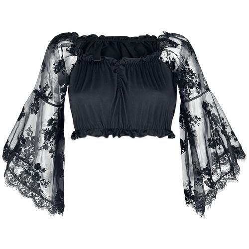 Ocultica Gothic-Top Damen-Bluse - schwarz