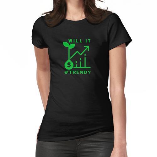 Wird es Trend? - Retro grün, Samengeldkarte. Frauen T-Shirt