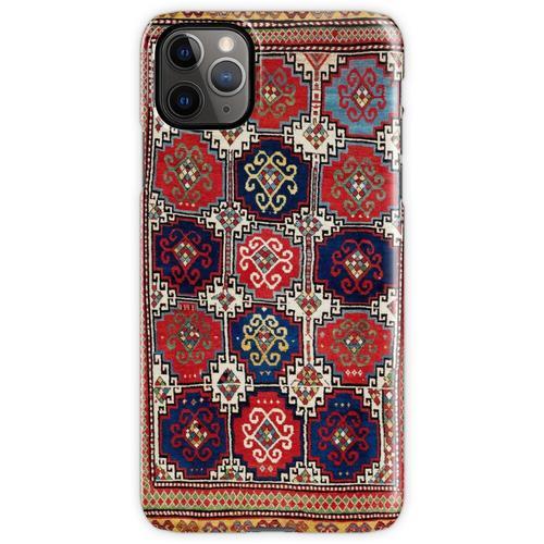 Kazak Antiker kaukasischer Teppich-Druck iPhone 11 Pro Max Handyhülle