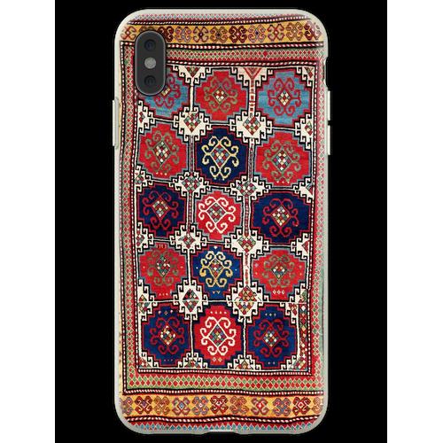 Kazak Antiker kaukasischer Teppich-Druck Flexible Hülle für iPhone XS Max