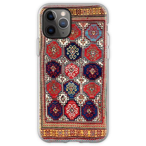 Kazak Antiker kaukasischer Teppich-Druck Flexible Hülle für iPhone 11 Pro