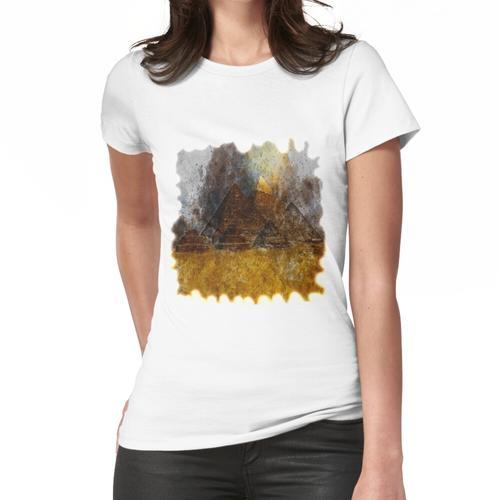 drei der großen Pyramiden von Gizeh Pyramiden Frauen T-Shirt