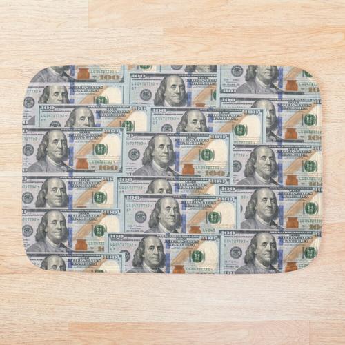 100-Dollar-Scheine Badematte