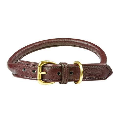 WeatherBeeta Hunde-Halsband Roll Leder Hundehalsband, Textil, (1 St.) braun Hundehalsbänder Hund Tierbedarf