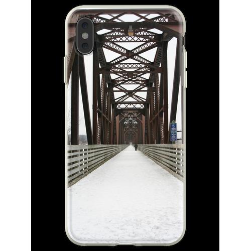 Alte Eisenbahnbrücke Flexible Hülle für iPhone XS Max