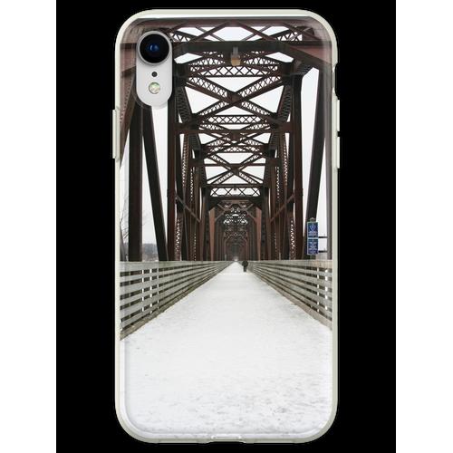 Alte Eisenbahnbrücke Flexible Hülle für iPhone XR