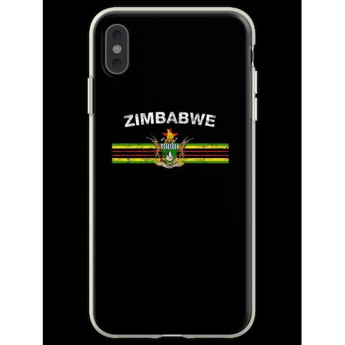 Simbabwische Flagge Shirt - Simbabwe Emblem & Simbabwe Flag Shi Flexible Hülle für iPhone XS Max