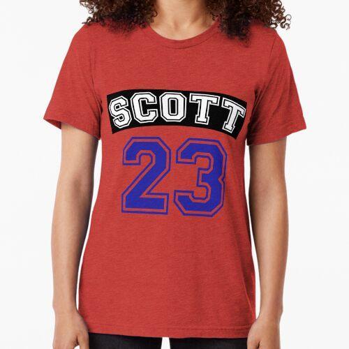 Scott 23 ein Baum Hügel Raben Trikot v2 Vintage T-Shirt