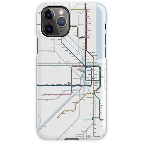 Chicago Eisenbahnkarte iPhone 11 Pro Handyhülle