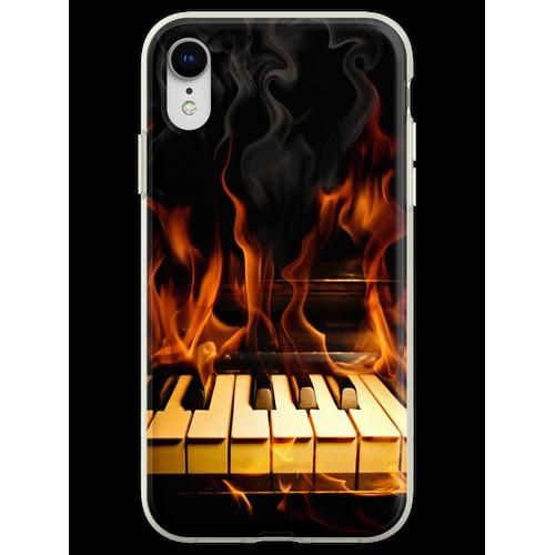 Brennendes Klavier Flexible Hülle für iPhone XR