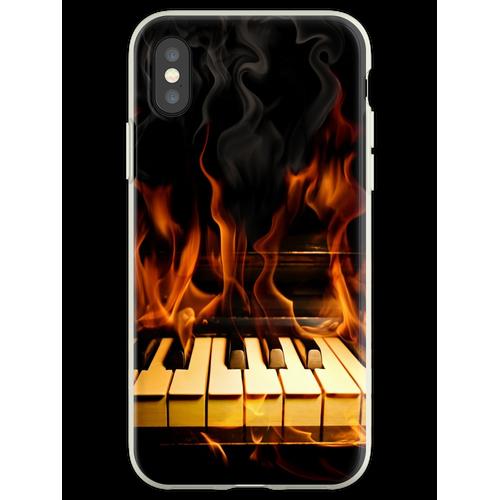 Brennendes Klavier Flexible Hülle für iPhone XS