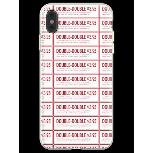 In-n-Out-Doppelzimmer mit doppeltem Burger Flexible Hülle für iPhone XS Max