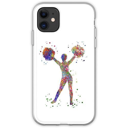 Cheerleader, Cheerleader, Aquarell-Cheerleader Flexible Hülle für iPhone 11