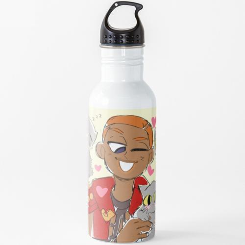 Formaggio und seine Katze Wasserflasche