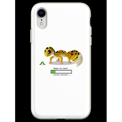 Geckos Fütterungszeit Flexible Hülle für iPhone XR
