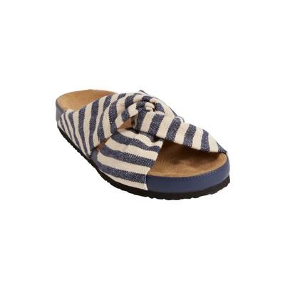 Women's The Reese Footbed Sandal by Comfortview in Navy (Size 8 M)