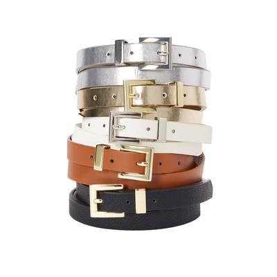 Plus Size Women's Skinny Belt by Jessica London in Black (Size 14/16)