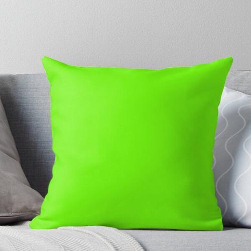 Leuchtendes Grün Kissen