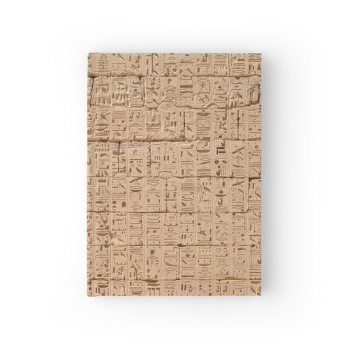 Hieroglyphen bei Medinet Habu Notizbuch
