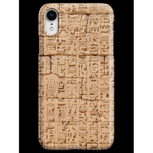 Hieroglyphen bei Medinet Habu iPhone XR Handyhülle