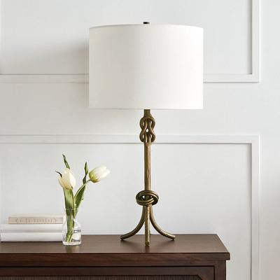 Keeley Black Table Lamp - Ivory ...