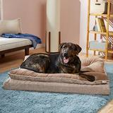 Frisco Plush Orthopedic Pillowtop Dog Bed w/Removable Cover, Beige, XX-Large