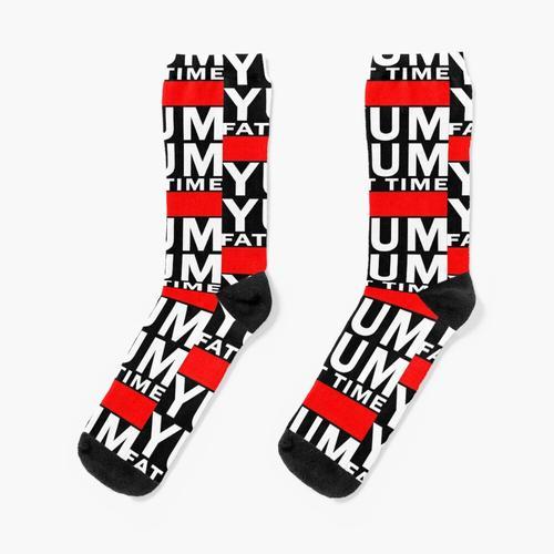 YumYum- Weißer Text Socken