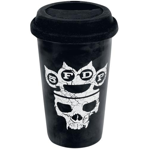 Five Finger Death Punch Control With My Knuckles Tasse - schwarz - Offizielles Merchandise
