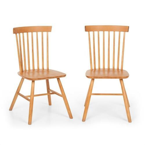 Fynn Holzstuhl-Paar Buchenholz Windsor-Design holz