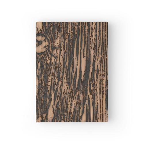 verbranntes Holz Notizbuch