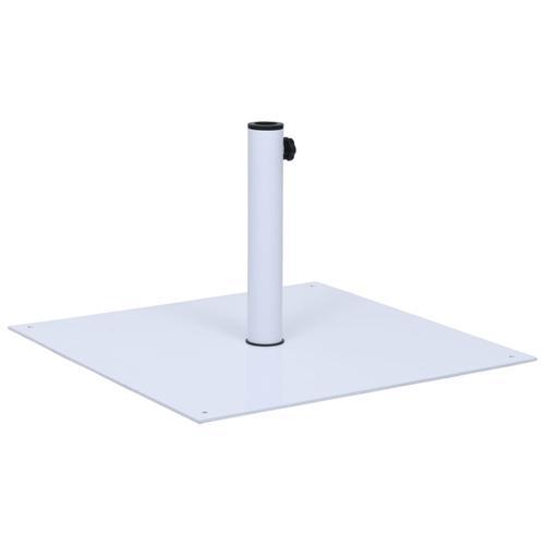 vidaXL Sonnenschirmständer Weiß Stahl Quadratisch 17 kg