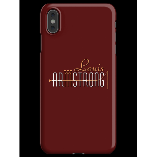 Louis Armstrong Trompeten iPhone XS Max Handyhülle