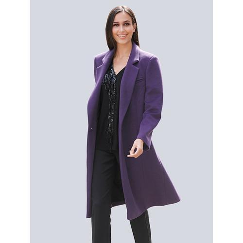Alba Moda, Mantel in sehr weicher Qualität, lila