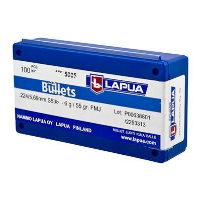 Lapua Fmj Bullets - 22 Caliber (0.224
