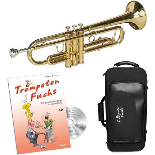 Cascha Bb-Trompete Trompeten Fuchs Anfänger Set goldfarben Blasinstrumente Musikinstrumente Audio, MP3, Musik