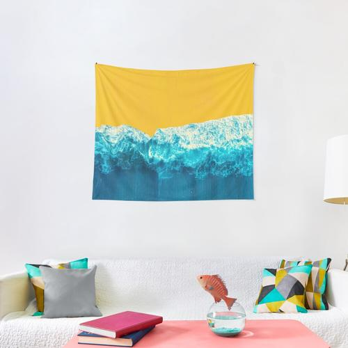 Yellow Tide Wall Tapestry