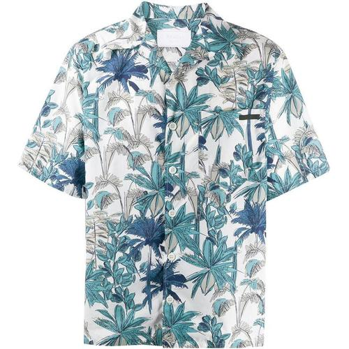 Prada Hemd mit Palmen-Print