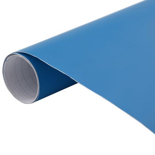 vidaXL Autofolie Matt Blau 200 x 152 cm