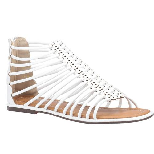 Divaz Sandale Damen Gemma Gladiator Zip weiß Sandaletten Sandalen