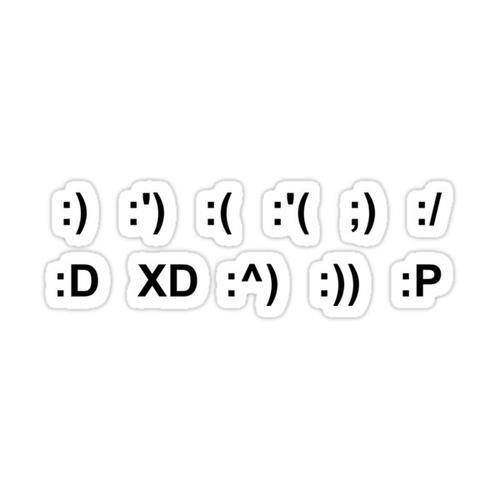emoticon stickers Sticker