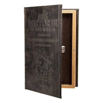 Barska CB11994 Antique Book Lock Box w/ Key Lock – 7″W x 10 3/4″H x 2 3/4″D, Steel
