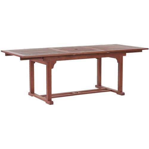 Beliani - Praktischer, rechteckiger Gartentisch aus Holz ausziehbar 160/220 x 90 cm Gartenmöbel,