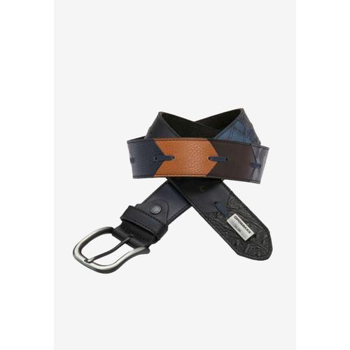 Cipo & Baxx Ledergürtel, mit mehrfarbigem Muster schwarz Damen Ledergürtel Gürtel Accessoires