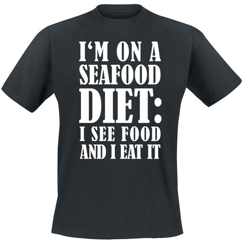 I'm On A Seafood Diet Herren-T-Shirt - schwarz