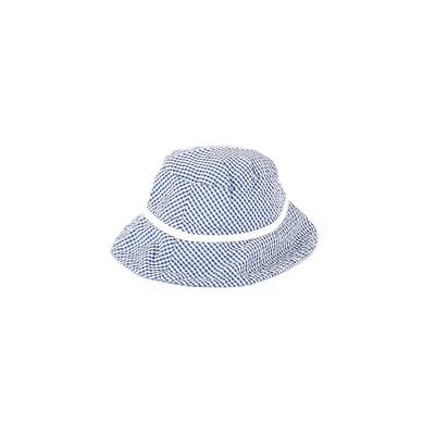 Sun Hat: Blue Checkered/Gingham ...