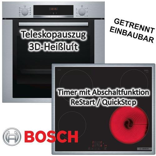Backofen HBA3140S0 mit Kochfeld PKE645B17 - Bosch