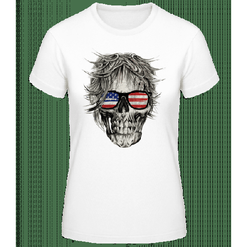 Totenschädel Amerika - Basic T-Shirt