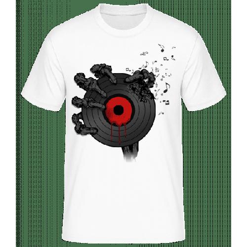 Schallplatte des Todes - Männer Basic T-Shirt