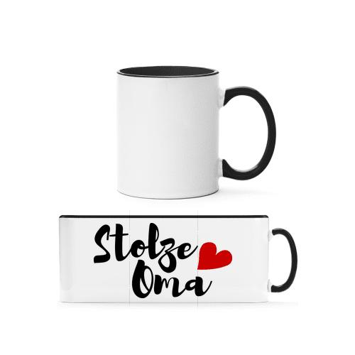 Stolze Oma - Tasse zweifarbig