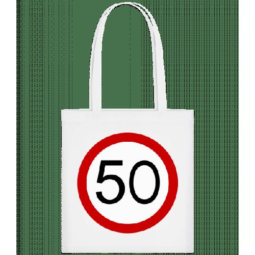 Verkehrsschild 50 - Stoffbeutel
